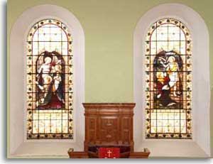 Limekilns Church windows